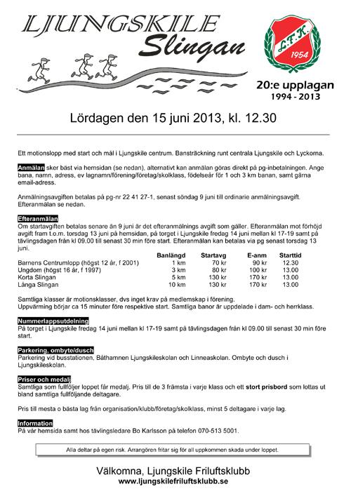 Inbjudan LjungskileSlingan