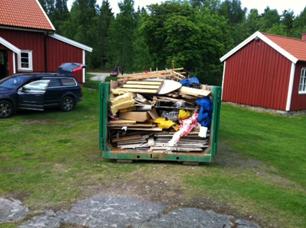 Containern blev nästan överfull- 20 m3
